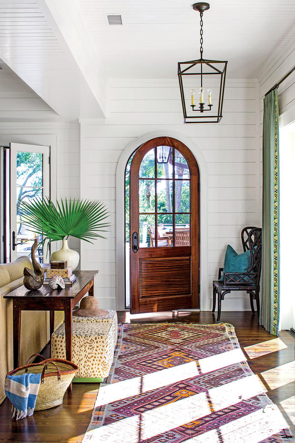 Create an enviable entry with inspiration from this kiawah for Foyer seating area ideas