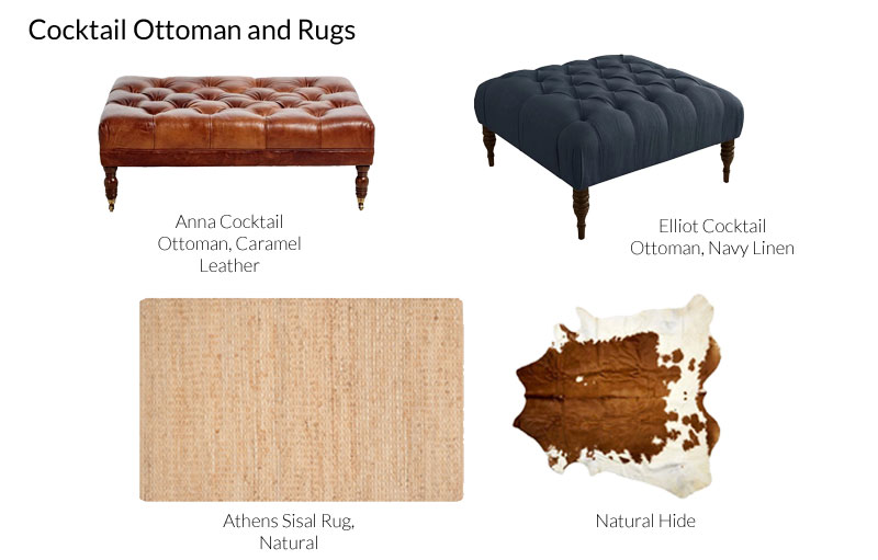 Cocktail Ottoman and Rug combination