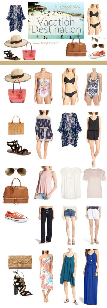 Packing ideas for your Winter Resort Destination Getaway Swimsuit Sandals Coverup